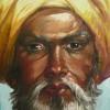 PORTRAIT INDIEN TURBAN JAUNE