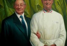 Portraits de Messieurs Paul Bocuse et Gérard Pélisson