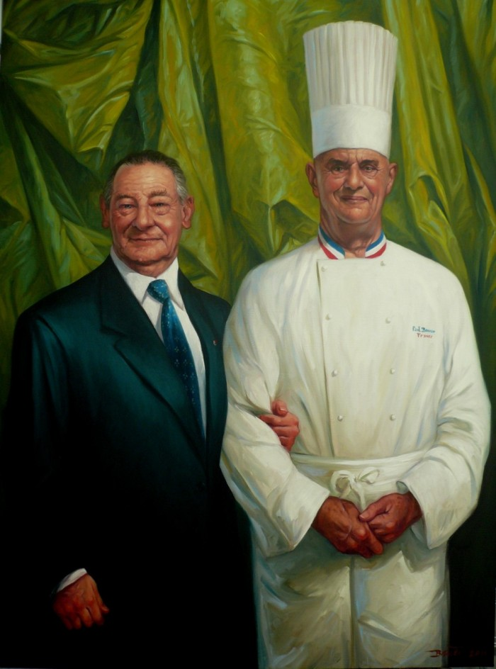 PORTRAIT DE MESSIEURS PAUL BOCUSE ET GERARD PELISSON – Thierry Bruet