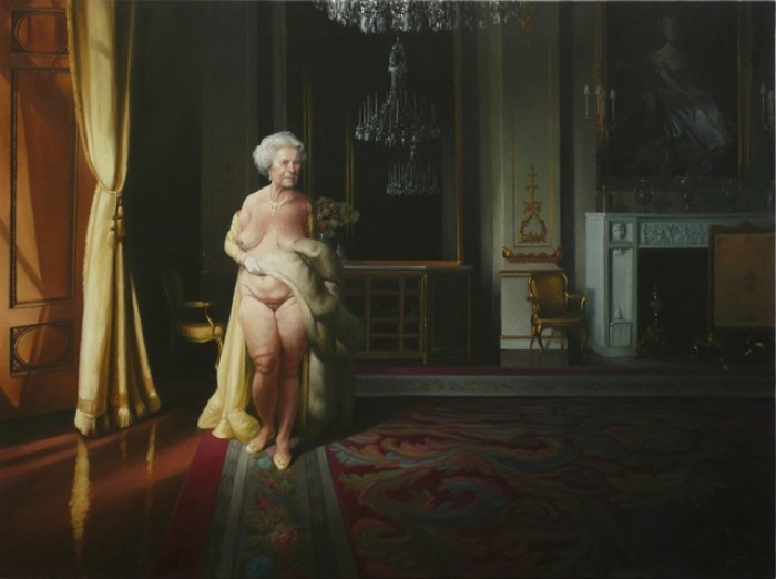 NAKED QUEEN – OIL ON CANVAS – 97 CM X 130 CM H –