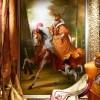 CHASSE A COURRE – Huile sur toile – 130cm x 81 cm