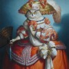 INFANTE AU MASQUE DE HULOTTE OIL ON CANVAS 2 146 X 89 CM -