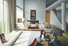 MENINE'S LOFT – HUILE SUR TOILE – 150 cm x 150 cm – THIERRY BRUET –