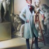 LE DANDY SCULPTEUR – OIL ON CANVAS — 81 CM X 60 CM