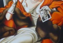 PORTRAIT DE LA DULCE LIBERAL MARTINEZ DE HOZ HUILE SUR TOILE — 130 CM X 89 CM