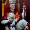PORTRAIT DE SA SAINTETE JUAN and HIS DOG 116 X 89 CM