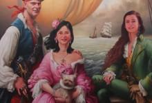 piratesportrait collectif famille herry huile sur toile  162 x 130 cm