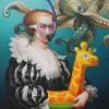 octopus 81 x 65 cm huile sur toile  thierry bruet