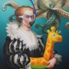 octopus 81 x 65 cm oil on canvas – thierry bruet