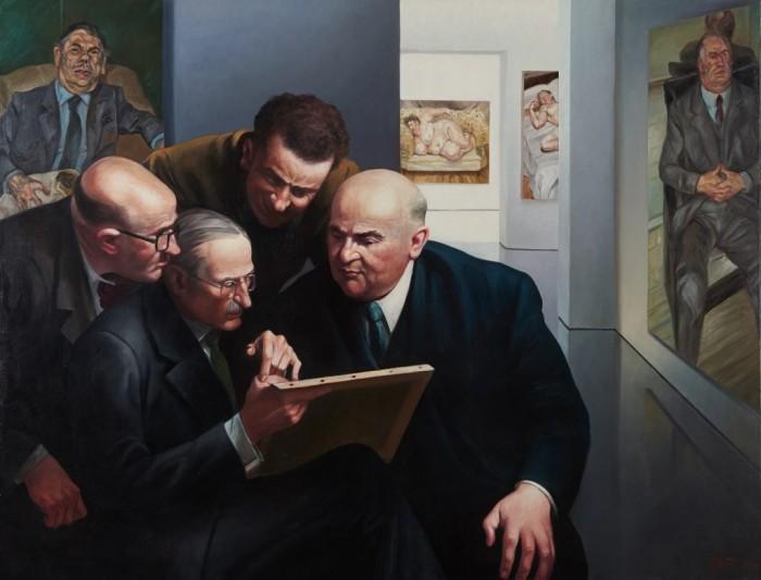 EXPERTISE – Huile sur toile – 89 cm x 116 cm