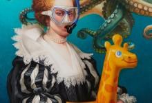 OCTOPUS – Huile sur toile – 81 cm x 65 cm