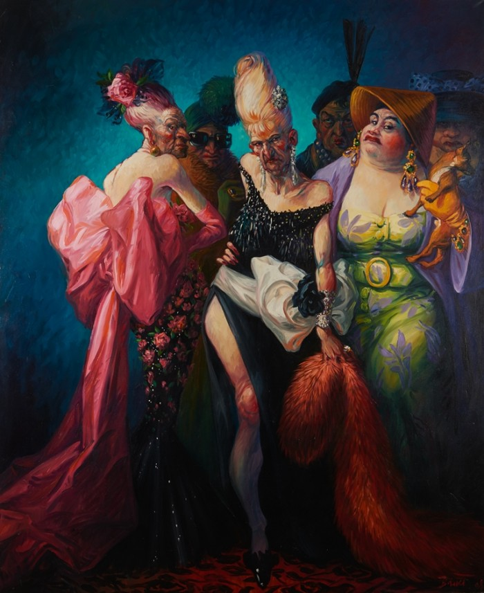 COUTURE – Oil on canvas 190 cm x 155 cm