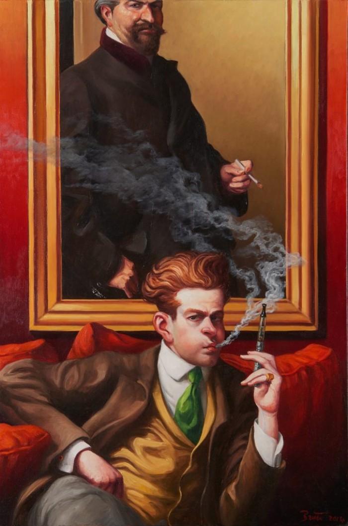 VAPORETTE – Oil on canvas – 81 cm x 54 cm