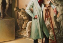LE DANDY SCULPTEUR – Oil on canvas – 81 cm x 60 cm