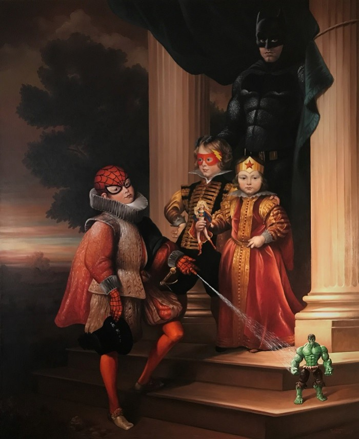 BAT DAD OIL ON CANVAS 220 CM X 180 CM BRUET 2017 OK