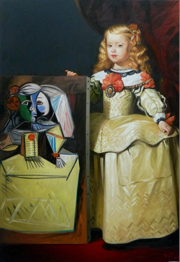 Infante Marie Marguerite picasso oil on canvas 116 x 81 cm - Copie