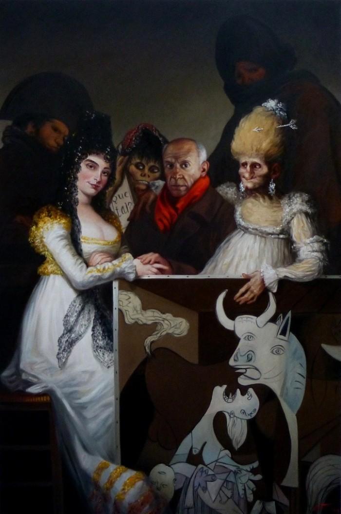 Espagnolade picasso 146 x97 cm oil on canvas